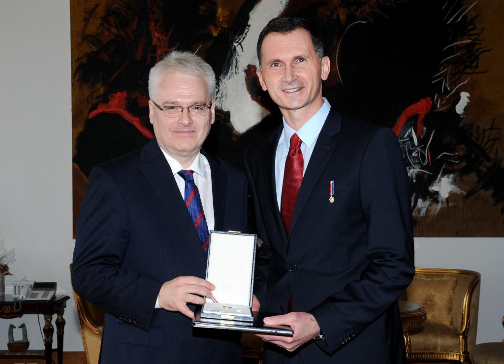 Predsjednik Ivo Josipović i prof.dr. Dragan Primorac